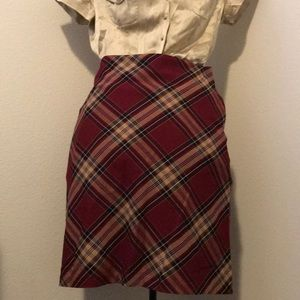 Cute and professional plaid skirt